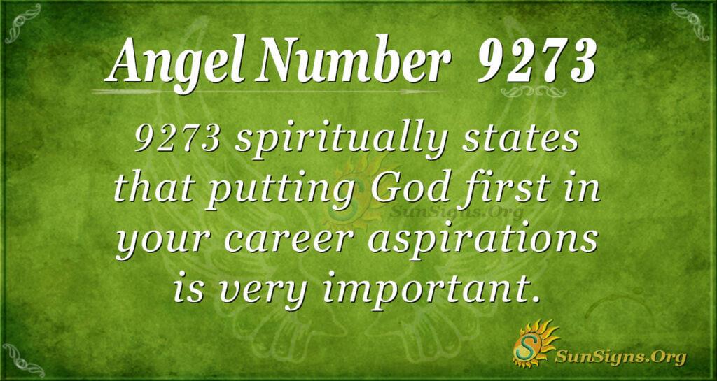 9273 angel number
