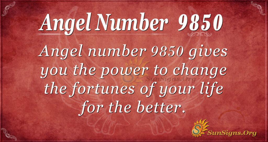 9850 angel number