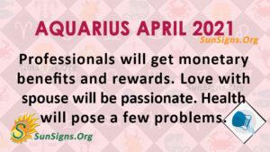 Aquarius April 2021