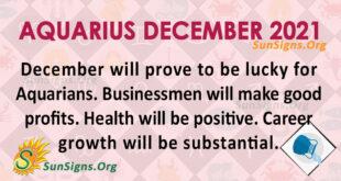 Aquarius December 2021