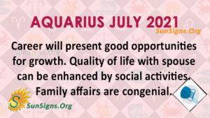 Aquarius July 2021