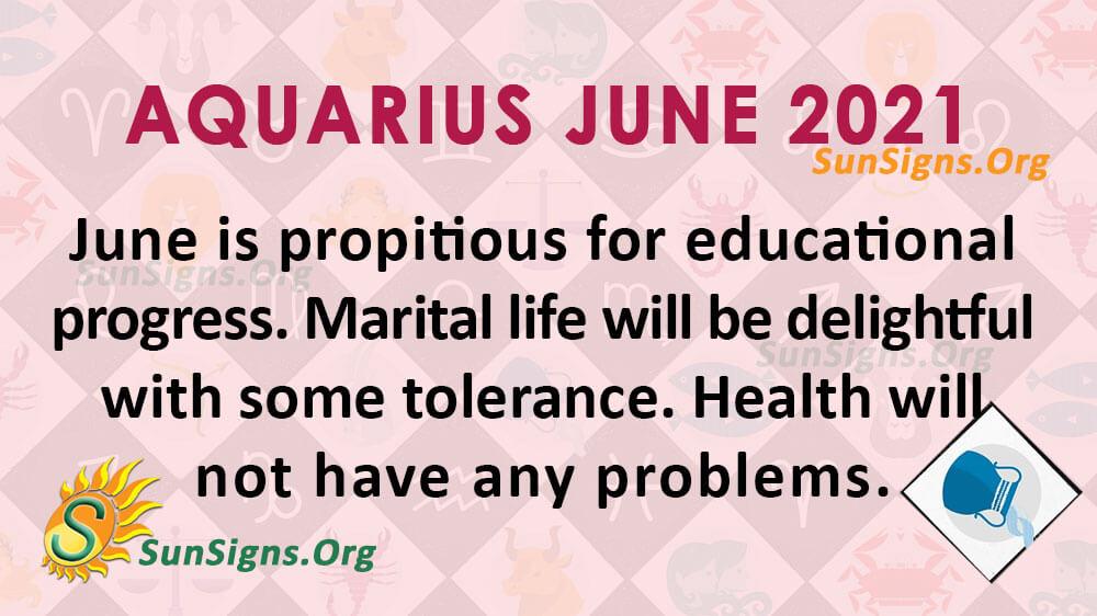 Aquarius June 2021
