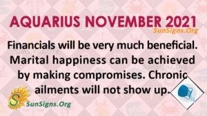 Aquarius November 2021