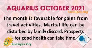 Aquarius October 2021