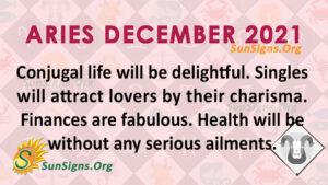 Aries December 2021