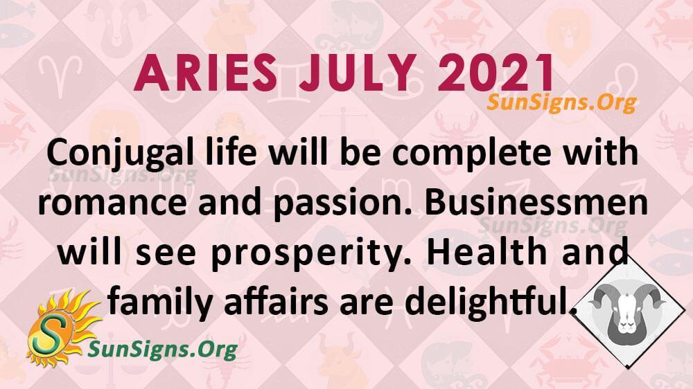 Aries July 2021