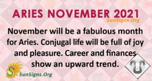 Aries November 2021