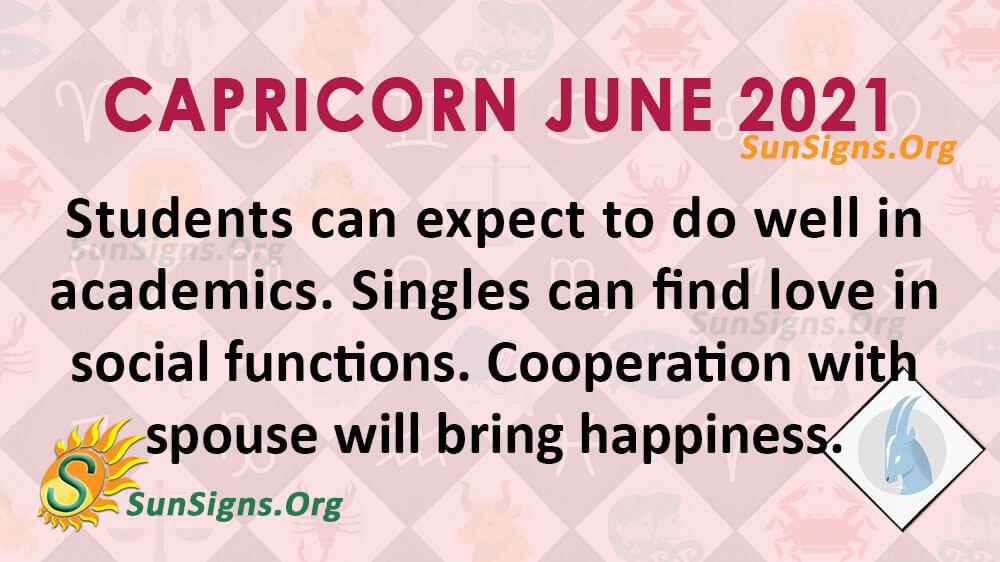 Capricorn June 2021