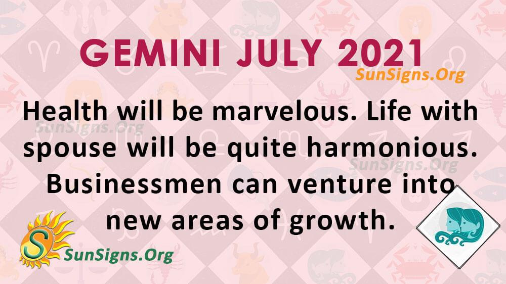 Gemini July 2021