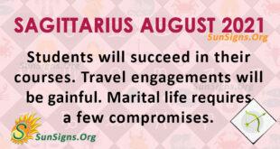 Sagittarius August 2021