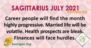 Sagittarius July 2021