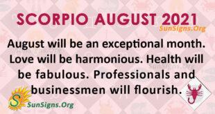 Scorpio August 2021