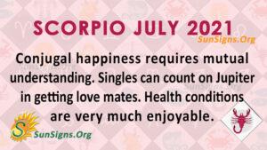 Scorpio July 2021