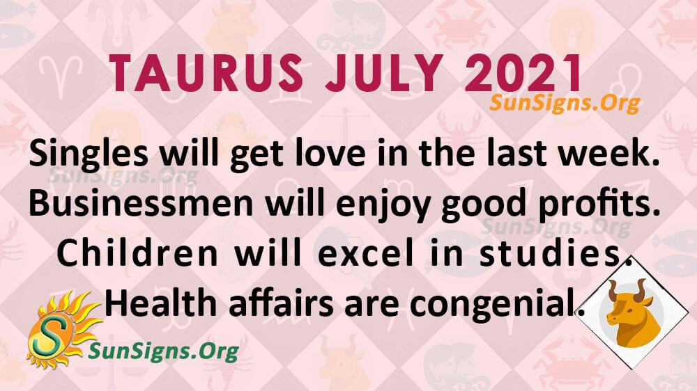 Taurus July 2021