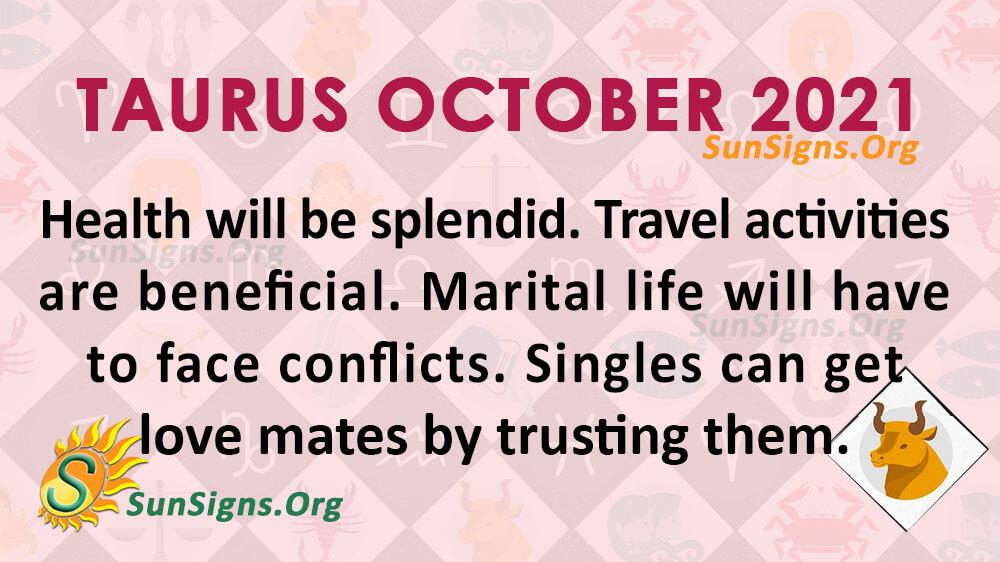 Taurus October 2021