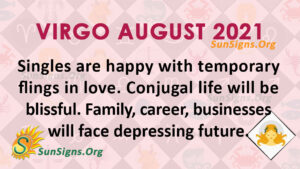 Virgo August 2021