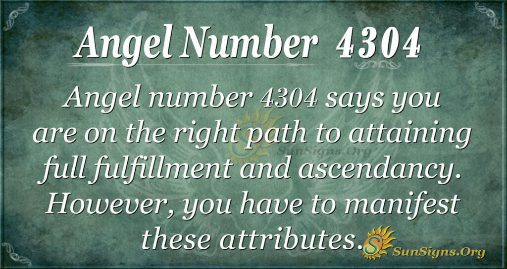4304 angel number