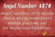 Angel number 4870