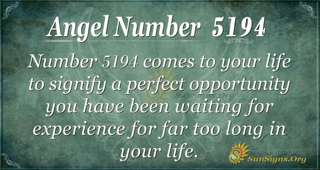 5194 angel number