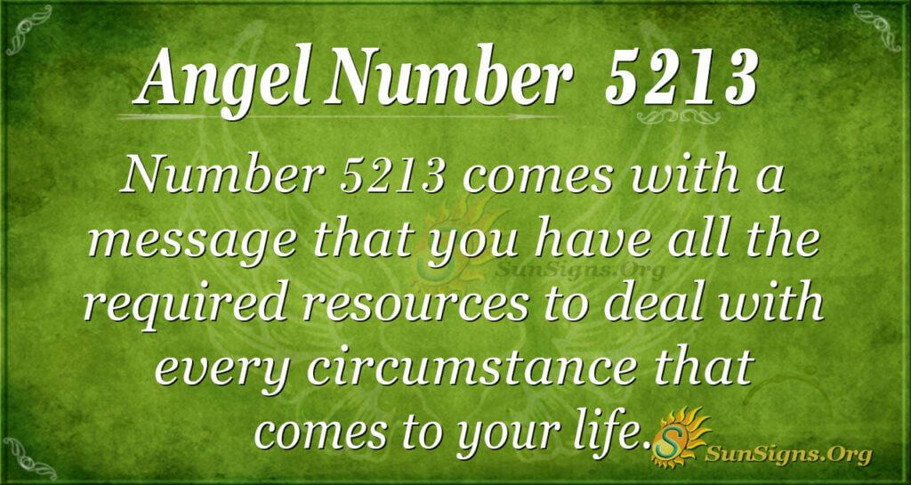 5213 angel number