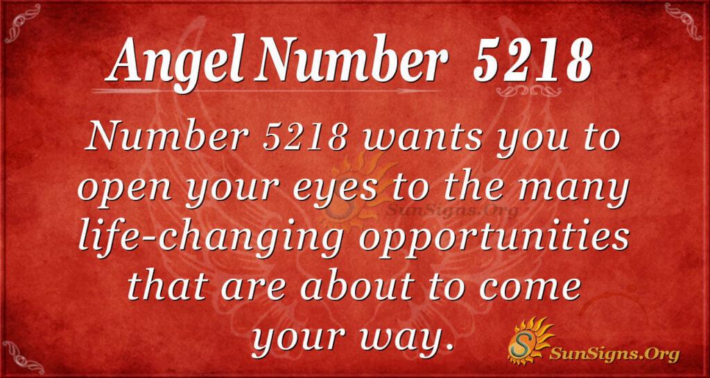 5218 angel number
