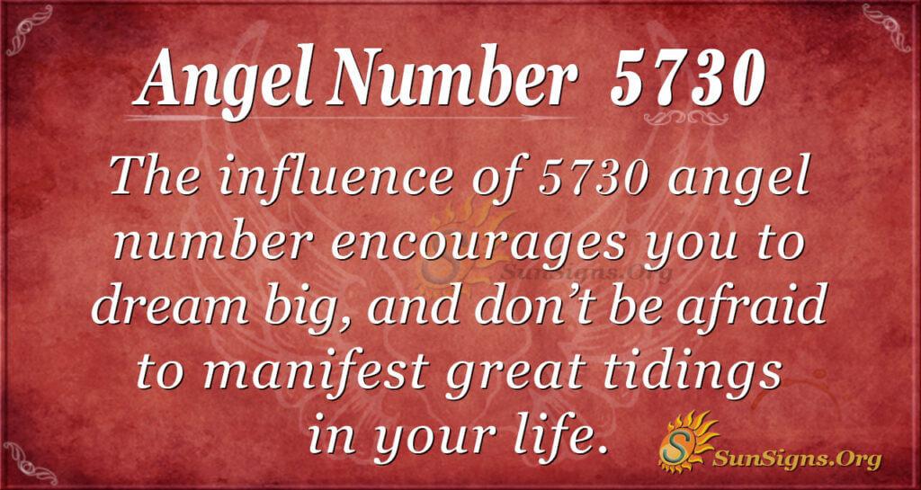 Angel Number 5730