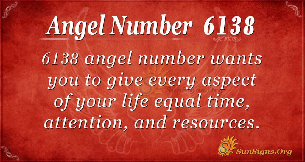 Angel Number 6138