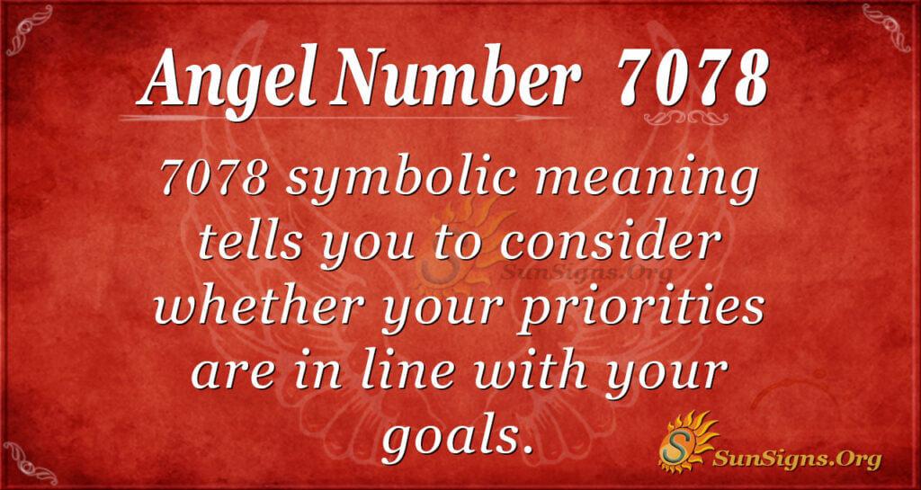 7078 angel number