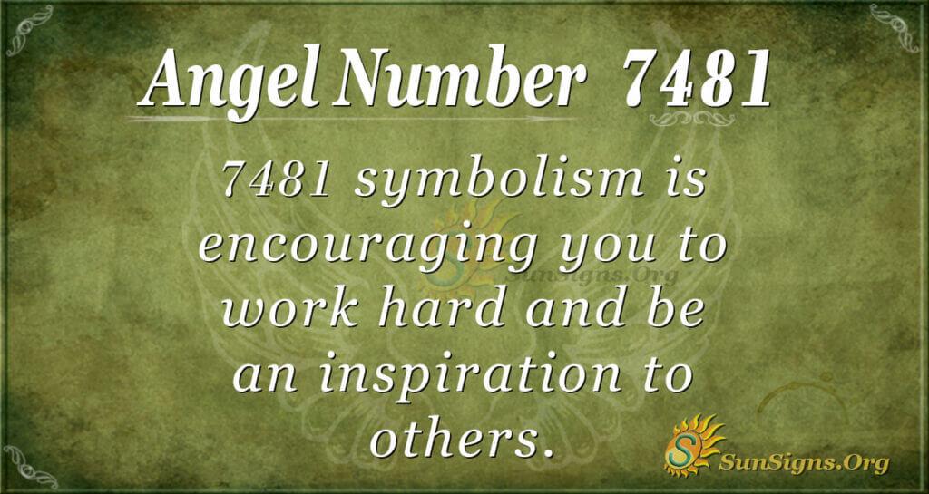 7481 angel number