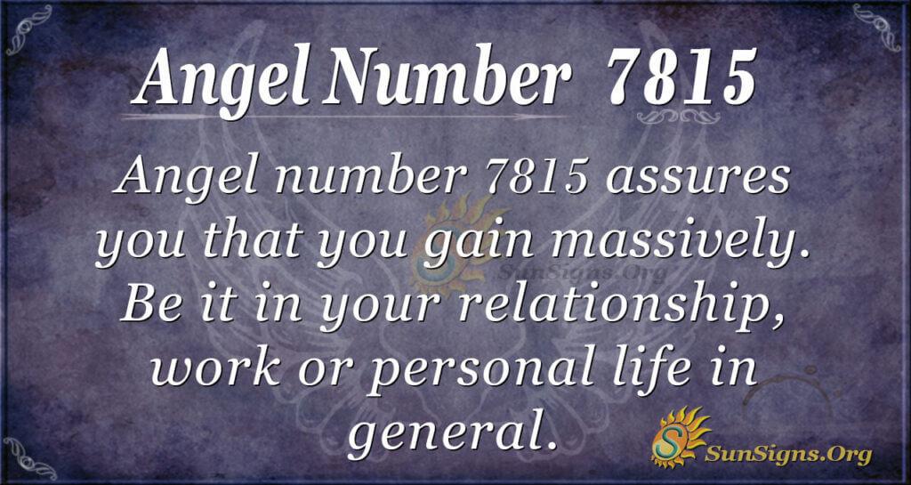 7815 angel number