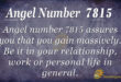 7815 angel number
