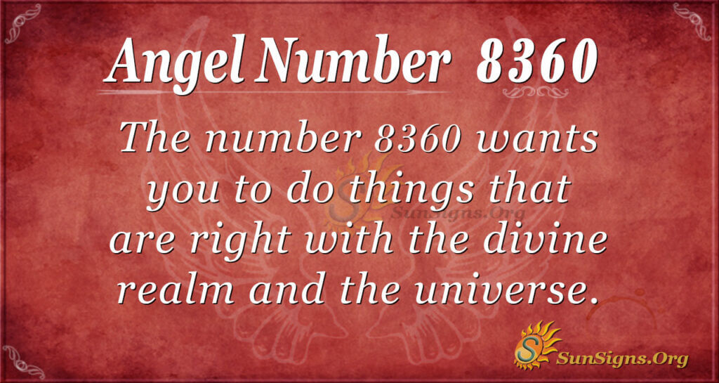 8360 angel number