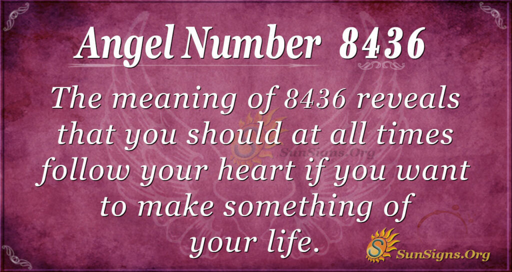 8436 angel number