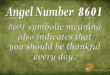 8601 angel number