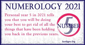 Numerology Number 5 2021
