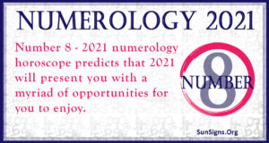 Numerology Number 8 2021
