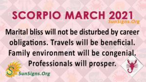 Scorpio March 2021