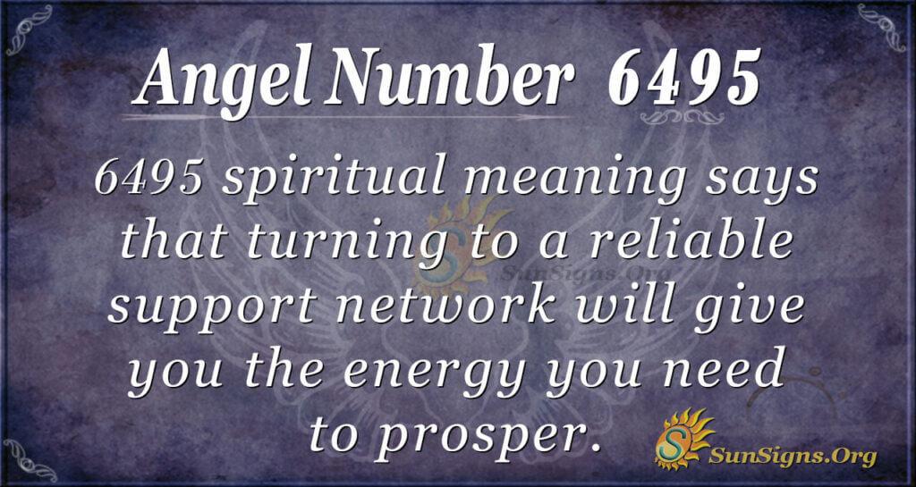 6495 angel number
