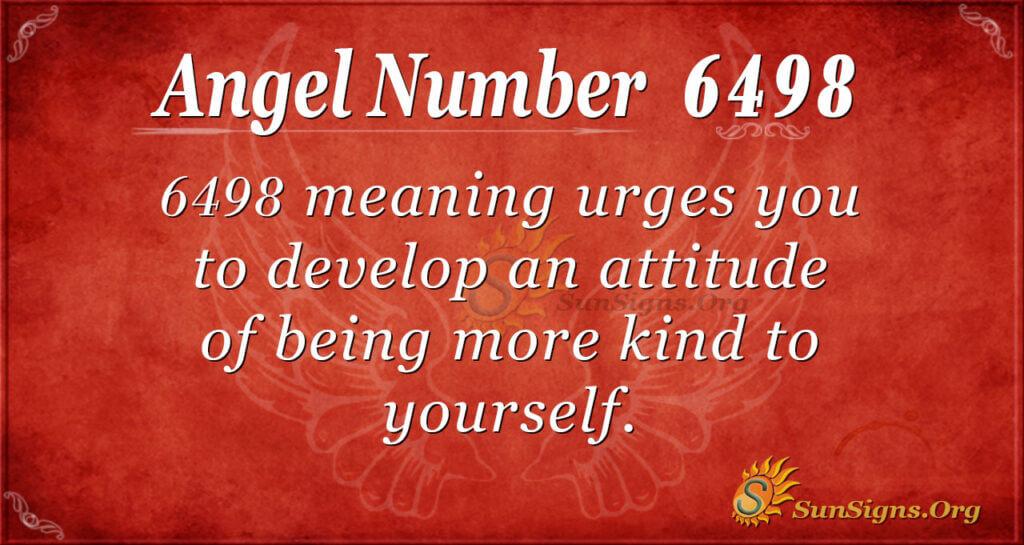 6498 angel number