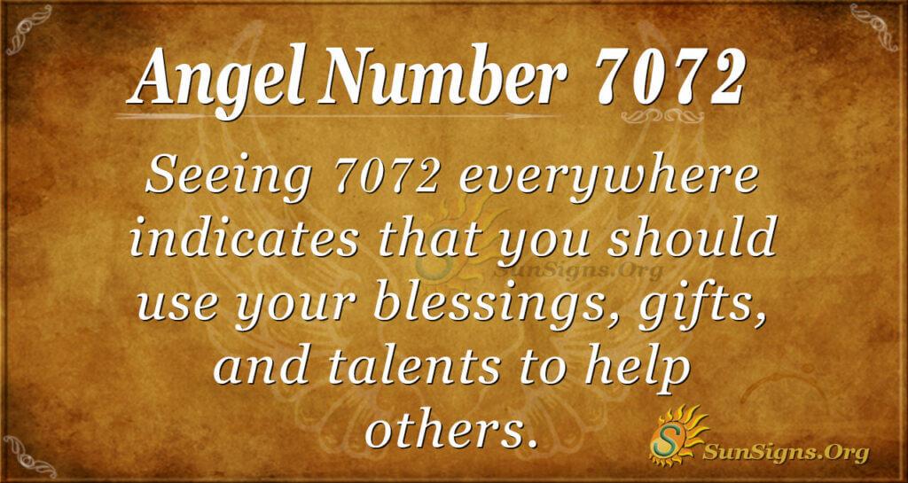 7072 angel number