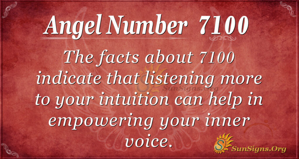 7100 angel number