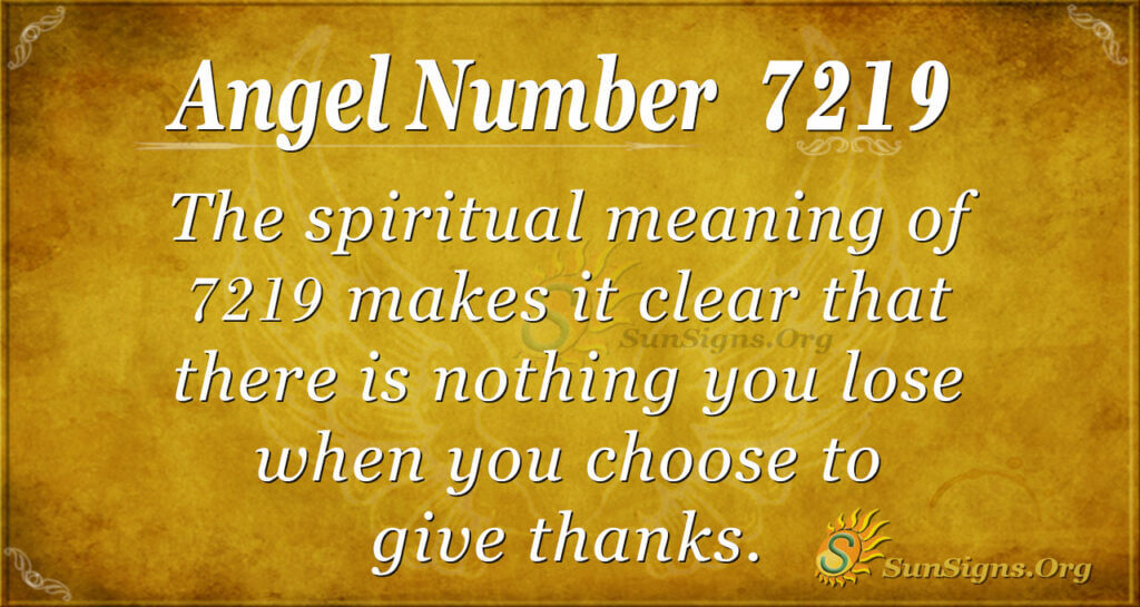 7219 angel number