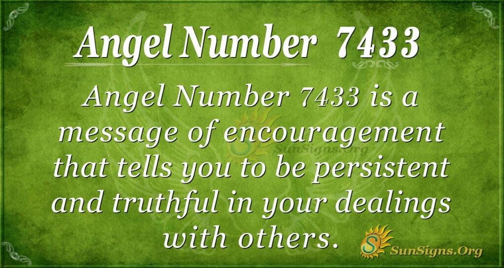 7433 angel number