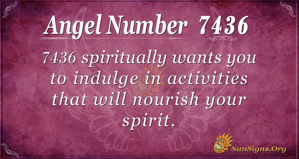 7436 angel number