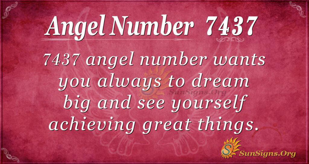 7437 angel number