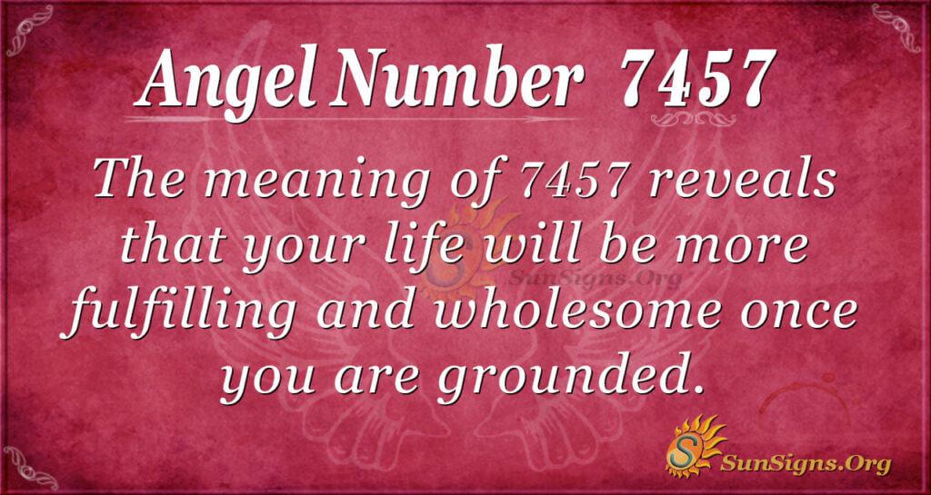 7457 angel number