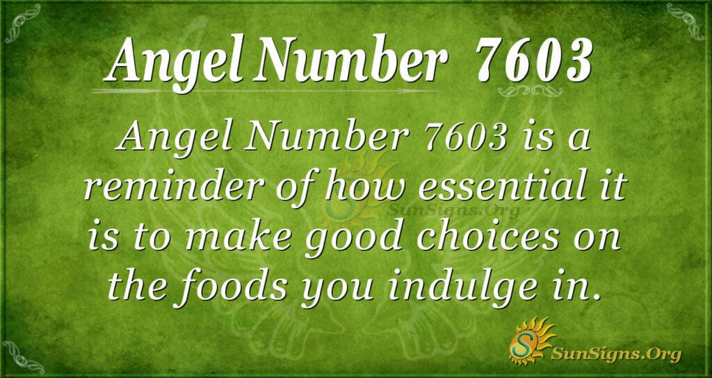 7603 angel number