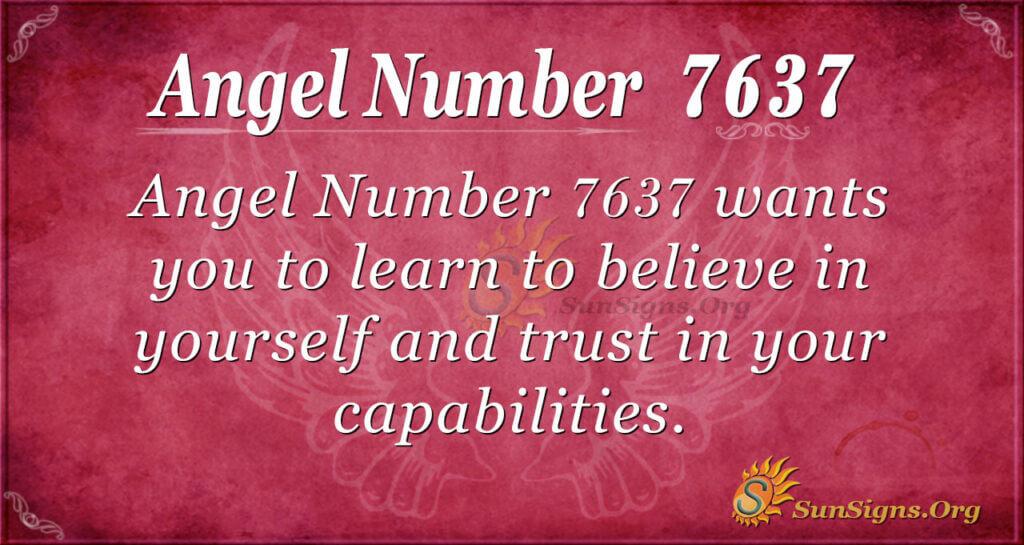 7637 angel number
