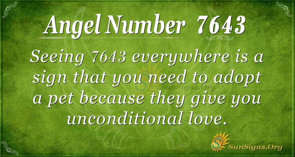 7643 angel number