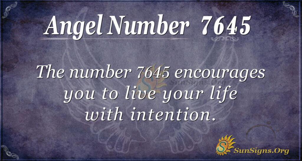 7645 angel number